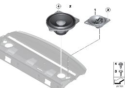SINGLE PARTS F REAR HELF LOUDSPEAKER