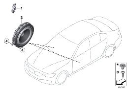SINGLE PARTS F FRONT DOOR LOUDSPEAKER