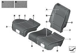 INDIVIDUAL BASE SEAT, PERF. LEATHER REAR
