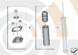REPAIR KITS, SHOCK ABSORBER REAR
