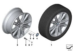 BMW M LA WHEEL, V SPOKE 464