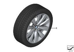 WINTER WHEEL WITH TIRE V-SPOKE 413 - 17