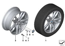 BMW LA WHEEL M DOUBLE SPOKE 434 - 20''