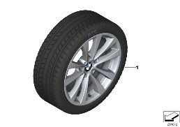 WINTER WHEEL WITH TIRE V-SPOKE 395 - 17