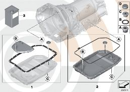 FLUID-CHANGE KIT, AUTOM. TRANSMISSION
