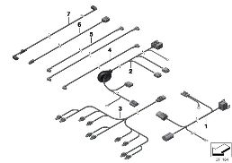 Realoem online bmw parts catalog various additional wiring sets sciox Choice Image