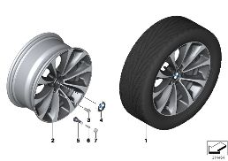 BMW LA WHEEL TURBINE STYLING 452 - 18''