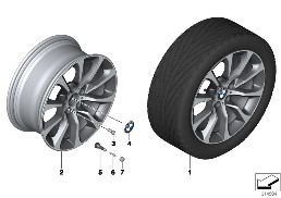 BMW LA WHEEL TURBINE STYLING 453 - 19''