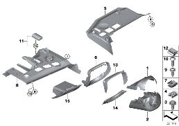 MOUNTING PARTS, I-PANEL, BOTTOM