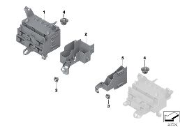 BRACKET F BODY CONTROL UNITS AND MODULES