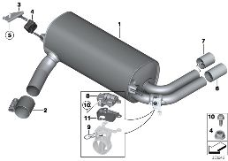 EXHAUST SYSTEM, REAR