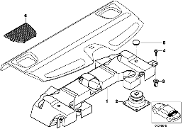 SINGL.PARTS SUBWOOFERBOX TOP-HIFI SYSTEM