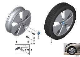 BMW I LA WHEEL STAR SPOKE 427 - 19''