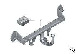 RETROFIT KIT TRAILER COUPLING DETACHABLE