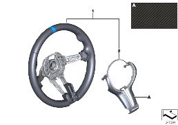 M PERFORMANCE STEERING WHEEL, ALCANTARA