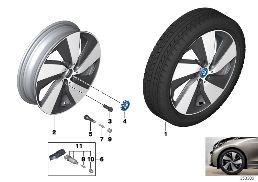 BMW I LA WHEEL TURBINE STYLING 429 - 19