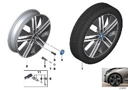 BMW I LA WHEEL, DOUBLE SPOKE 430 - 20