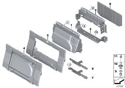 TRUNK PARTITION TRIM PANEL