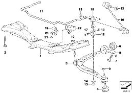 FRONT AXLE SUPPORT/WISHBONE/STABILIZER