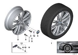 BMW LA WHEEL M DOUBLE SPOKE 624 - 20''