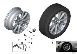 BMW LA WHEEL V-SPOKE 390 - 16''