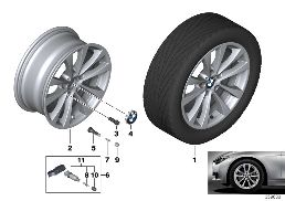 BMW LA WHEEL V-SPOKE 395 - 17''
