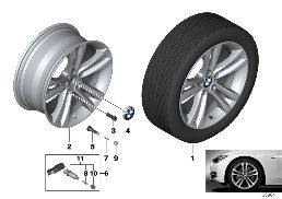 BMW LA WHEEL DOUBLE SPOKE 397 - 18''