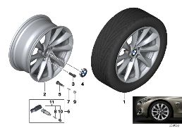 BMW LA WHEEL TURBINE STYLING 415 - 18''