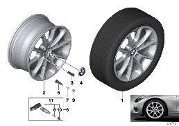 BMW LA WHEEL V-SPOKE 398 - 18''