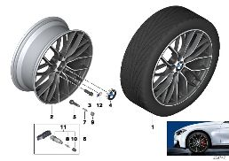 BMW LA WHEEL M DOUBLE SPOKE 405-20''