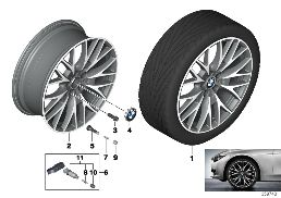 BMW LA WHEEL CROSS-SPOKE 404-20''