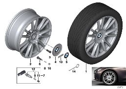 BMW LA WHEEL INDIVIDUAL V-SPOKE 439-19''