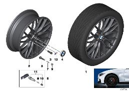 BMW LA WHEEL M DOUBLE SPOKE 405-18''