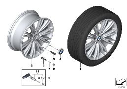 BMW LA WHEEL INDIVIDUAL V-SPOKE 626