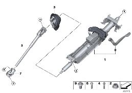 STEERING COLUMN MAN.ADJUST./MOUNT. PARTS
