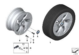 BMW LA WHEEL TURBINE STYLING 406 - 16''