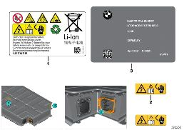 HIGH-VOLTAGE BATTERY NOTICE STICKERS