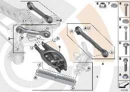 REPAIR KITS FOR SUSPENSION ARMS/STRUTS