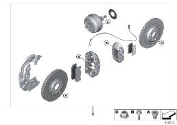 RETROFIT KIT M CARBON-CERAMIC BRAKES