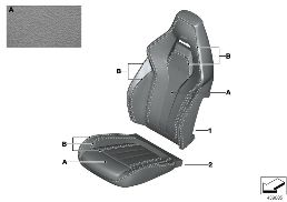 INDIV.COVER FOR M MULTIFUNCTION SEAT