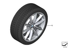 WINTER WHEEL WITH TIRE V-SPOKE 618 - 17