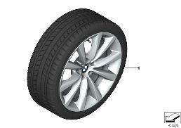 WINTER WHEEL WITH TIRE V-SPOKE 642 - 18