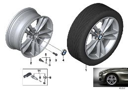 BMW LA WHEEL V-SPOKE 658