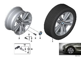 BMW LA WHEEL V-SPOKE 656 - 16