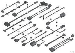 VARIOUS ADDITIONAL WIRING SETS