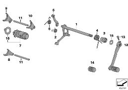 5-SPEED TRANSMISSION SHIFTING PARTS
