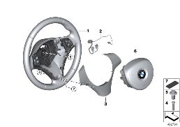 AIRBAG SPORTS STEERING WHEEL