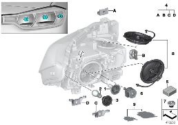 INDIVIDUAL PARTS FOR HEADLAMP, HALOGEN