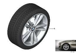WINTER WHEEL WITH TIRE V-SPOKE 658 - 18