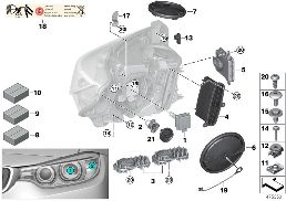 SINGLE PARTS, XENON HEADLIGHT